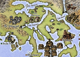 A section of the world map from The Elder Scrolls: Morrowind