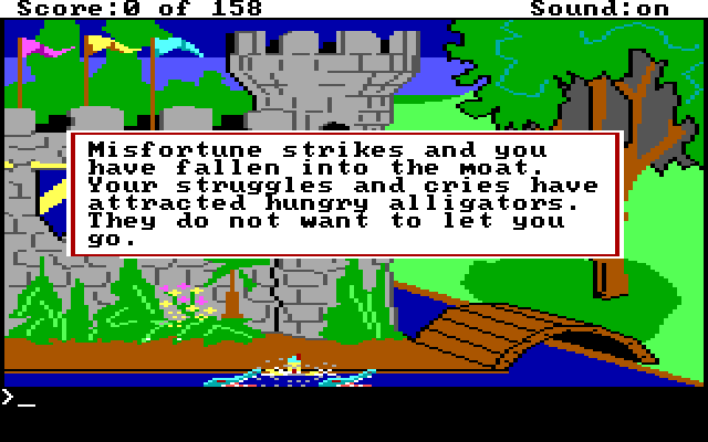 Graham is eaten by alligators in the moat.