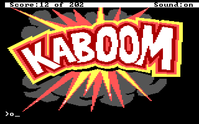"A large cartoon explosion that reads ""KABOOM"""