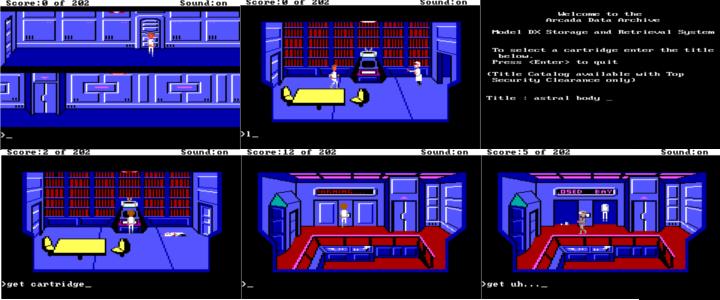 A six-panel recap of the previous screens.