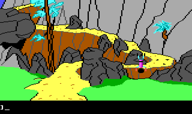 Same as previous, but Gwydion is falling headfirst into a ravine.