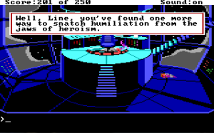 Line on Sierra: Space Quest II